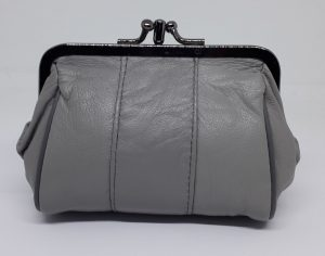 Oma beurs portemonnee met knip, grijs