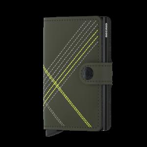 Secrid Mini Wallet Portemonnee Stitch Linea Lime