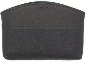 Kleingeld portemonnee leder zwart 25059