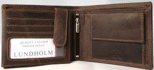 Lundholm Leren portemonnee heren leer bruin - Premium vintage leer