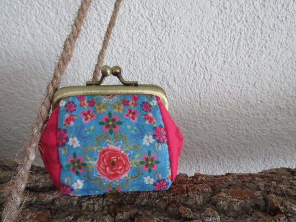 knip portemonneetje Lyan bloem multi van Melli Mello
