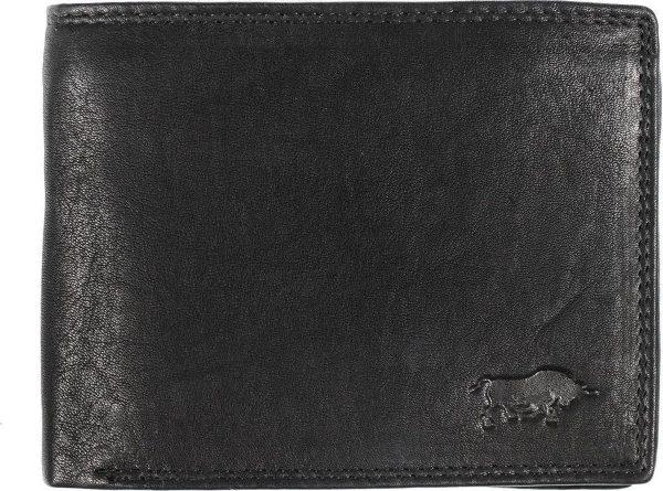 Leren Portemonnee Heren Zwart Met Groot Ritsvak RFID - Zwarte Heren Portemonnee Anti-Skim