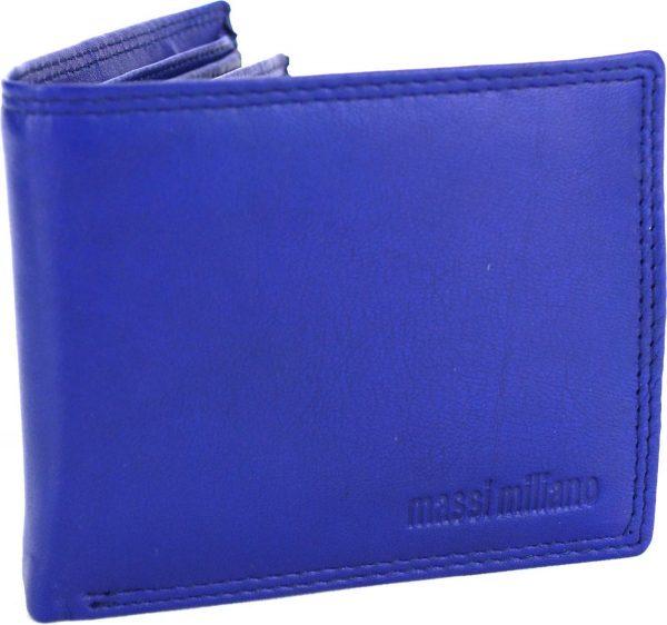 Portemonnee Heren Massi Miliano Leder (PHXW-303-9) -Navy-blauw -