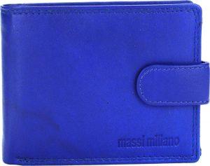 Portemonnee Heren Massi Milliano leder (PHXW-304-5) -Royal-blauw -