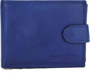 Portemonnee Heren Massi Milliano leder (PHXW304-9) -Navy-blauw -