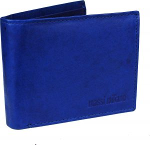 Portemonnee Massi Milliano Heren leder (MRS-34-8) -blauw -