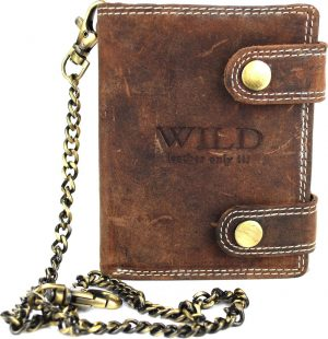 Portemonnee heren Wild leder d.bruin 9,5x2x12cm (RS401NC-15) -