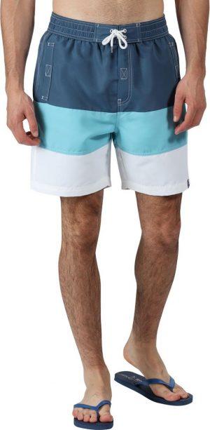 Regatta Zwembroek Bratchmar Vi Heren Polyester Blauw/wit Maat S
