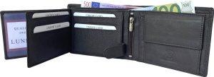 Lundholm RFID Leren heren portemonnee heren RFID - portemonnee bruin - cadeau voor man - vaderdag cadeautje