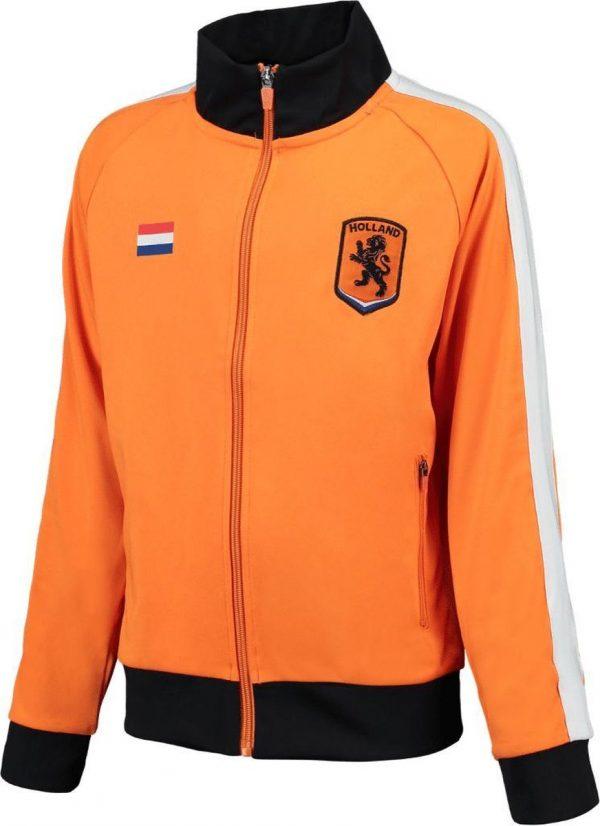 Oranje Holland vest heren - trainingsjack - Nederland vest - maat L