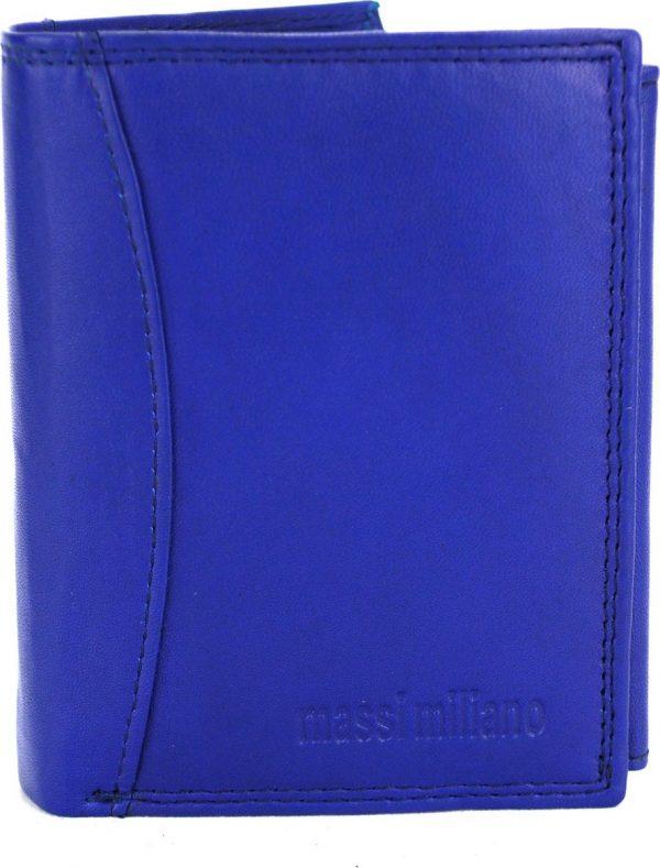 Portemonnee Heren Massi Milliano leder (PHXW351NC-5) -Royal-blauw -