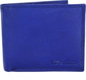 Portemonnee heren Massi Miliano leder (PHXW-307-5) -Royal-blauw -