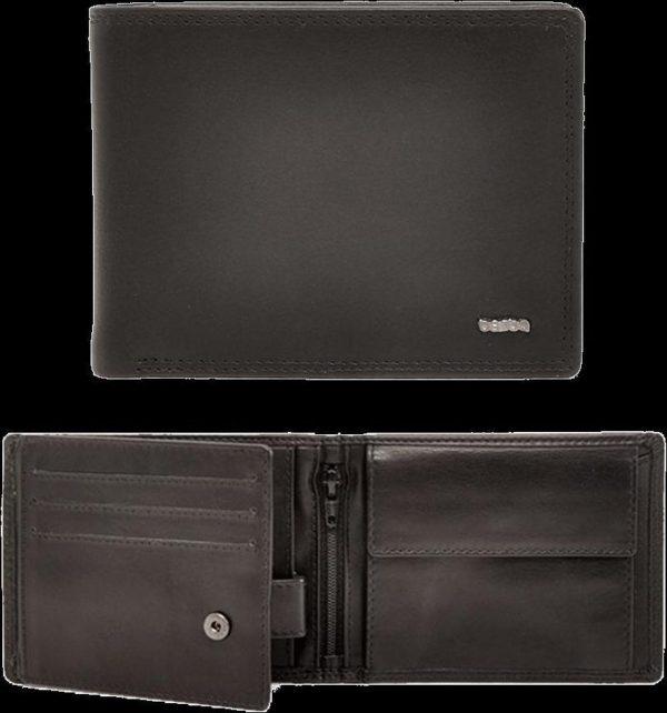 Berba Heren Portemonnee Soft 002-203 Black
